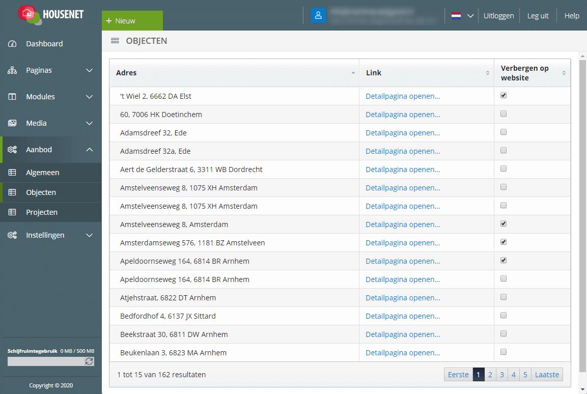 Screenshot Housenet